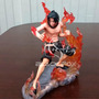 Boneco One Piece Action Figure Ace Mariford Fogo Pirata