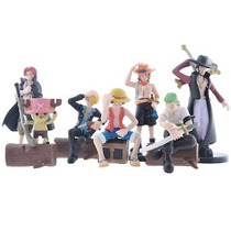 Bonecos One Piece - 7 Action Figures Luffy, Ace, Chopper