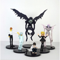 Kit 6 Bonecos Death Note Kira L 8-18 Cm Anime Manga