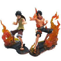 Kit 2 Bonecos One Piece Luffy E Ace Ruffy Ace O Anime Manga