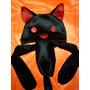 Touca Anime Gato Black & Red Novidade Frete Incluso