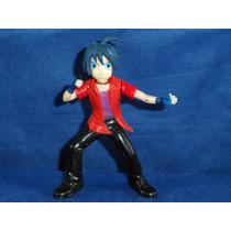 Boneco Anime Estilo Seriado Japonês Com Cabelo Azul Usado