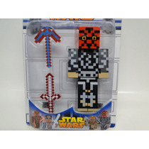 Minecraft Boneco Grande+picareta E Espada Minecraft