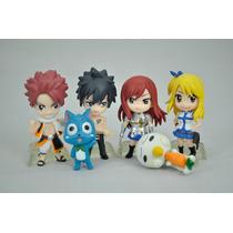Fairy Tail Bonecos 6 Figures: Lucy, Erza, Gray, Happy E Mais