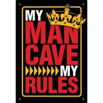 Placa De Lata Caverna Do Homem Regras Da Placa De Metal 3003