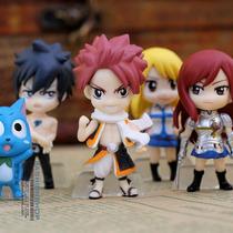 Kit 6 Bonecos Fairy Tail Natsu,lucy,gray,elza Pronta Entrega