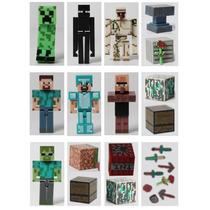 Minecraft Bonecos, Cubos, Espadas E Picaretas Kit C 24 Itens