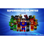 2 Kits 8 Bonecos Super Herois Minecraft Cubeecraft Marvel