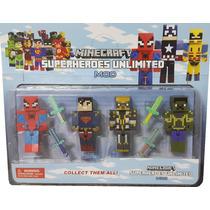 2 Kits 8 Bonecos Super Herois Minecraft Cubeecraft Marvel