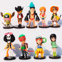 Bonecos One Piece Luffy, Zoro, Brook, Nami, Chooper E Outros