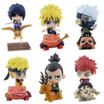 Boneco Naruto - 6 Action Figures Naruto, Minato, Sasuke