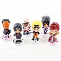 Bonecos Naruto Kit Com 6 Sasuke Gaara Itachi Sakura Bee Tobi