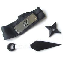 Promoção Kit Naruto = Kunai 25cm + Shuriken 10cm + Bandana