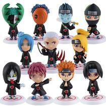 Kit Com 11 Bonecos Membros Akatsuki Naruto Ultimate Ninja 3