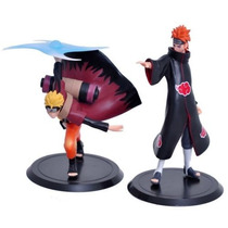 Kit 2 Bonecos Naruto E Pain 17 Cm - Figure Anime Manga