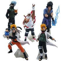 Action Figures Naruto, Kakashi, Sasuke, Killer Bee Em Pvc