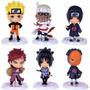 Bonecos Naruto 6 Peças Sasuke Sakura Kakashi Haku Zabusa