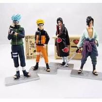 4 Bonecos Naruto Sasuke Itachi Kakashi Pronta Entrega