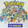 Kit Pokemon Com 72 Miniaturas - Pronta Entrega!