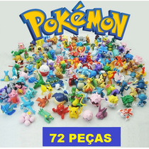 Kit Pokemon Com 72 Miniaturas - Pronta Entrega!