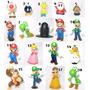 Miniaturas Mário Bros. Yoshi, Luigi, Toad...escolha O Seu!
