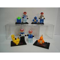 Ash Pikachu Bubassauro Squirtle Charmander = Lego Pokemons