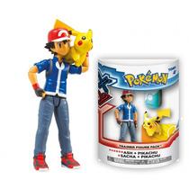 Boneco Pokémon Xy Ash E Pikachu Tomy Nintendo Original