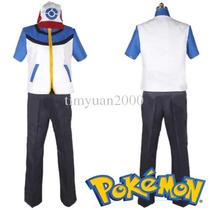 Jaqueta Ash Ketchum Pokémon Black And White Cosplay Tamanhos