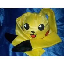 Touca Anime Pikachu Pokémon Orelhas Grandes Pronta Entrega