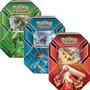 3 Latas Pokemon Ex Hoenn P. Sceptile,brazilken E Swampert