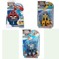 Kit 3 Transformers Rescue Bots Energize Bumblebee Optmus Pri