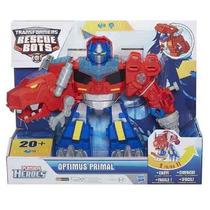 Transformers Rescue Bots Optimus Prime Dino Som E Luz Hasbro