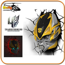 Luminaria 3d Light Fx Transformers Bumblebee Autoboots