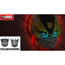 Luminaria 3d Light Fx Transformers Autobot Bumblebee