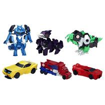 Transformers - 6 Robos - Robots In Disguise - Hasbro - Novo