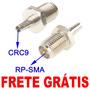 Adaptador Rp-sma Crc9 P/ Antena Wifi Ou Modem 3g Huawei