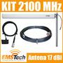 Kit Celular 3g 2100mhz Antena De 17 Dbi+ Cabo 10m+ Adaptador