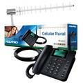 Kit Celular Rural Aquario Ca-900 Antena 17dbi Cabo 15 Metros