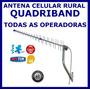 Antena Celular Rural E 3g Quadriband 15dbi A Mais Potente