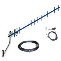 Kit Antena Rural P/ Celular Modem 3g Triband E Nextel 15 Dbi