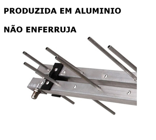 Antena Uhf 17dbi Eldtec -digital Analogica E Hd Mais Potente