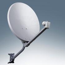 Kit Antena Ku Offset + Lnbf Duplo Hd + Cabo + Parafusação
