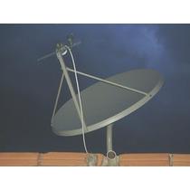 Antena Ku 100cm X95 Cm + Lnb Duplo Melhor Que De 90cm