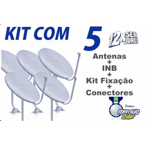 5 Antenas Parabólica Banda Ku - Kits Completos 12x Sem Juros