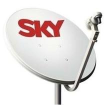 Antena 60cm Banda Ku/lnb Duplo/ 10m Cabo/kit Fixação Comp.