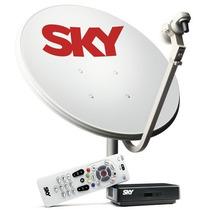 Receptor Digital + Antena De 60cm Sky Pré-pago Flex Completa