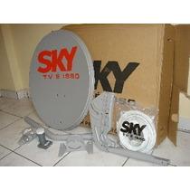 Antena Ku 60 Cm Completa Com Lnbf Simples Hd