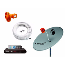Kit Antena Parabolica Chapa 150 Completa Receptor Anadigi Hd