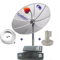 Antena Parabolica Century + Receptor + Lnbf + Cabo
