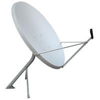 Antena Ku 100cm Melhor Q. De 90cm + Lnb Duplo 2 Saidas